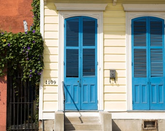 Fine Art Photography Print New Orleans Louisiana Historic French Quarter District Doors