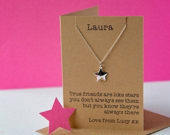 True friends star necklace