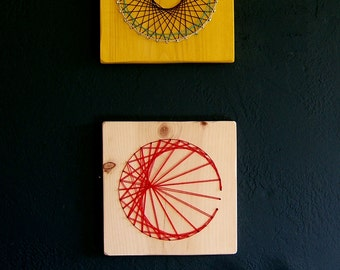 Modern String Art Wooden Tablet -Set of 2 - Custom designs