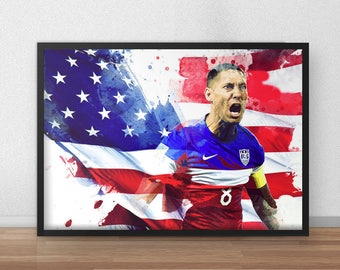 Clint Dempsey Seattle Sounders FC United States Print Poster- Clint Dempsey Seattle Sounders art, wall decor, home decor, football, soccer
