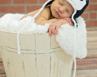 Baby Penguin Hat, Baby Penguin Beanie, Baby Animal Hat, Photography Prop, Baby Animal Hat, Newborn Baby Penguin Hat, 0-3, 3-6, 6-12