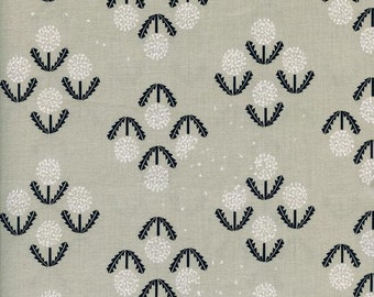 Cotton and Steel Black and White Puff Dandelion Flowers Fabric 5028-001 BTY