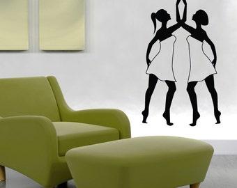 Vinyl Wall Art Decal Sticker Lyrical Dancers 1295s