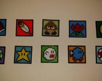 8bit Mario squares
