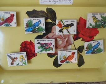 Vintage Bird Domino Magnets, Bird Magnets, Spring Birds for your Fridge!