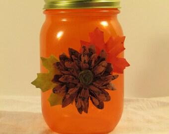 Orange Fall Jar