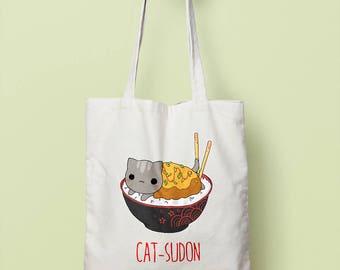 Catsudon (katsudon cat) japan food kawaii tote bag
