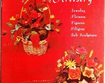 SALE * Vintage Bread Dough Artistry Craft Book - Jewelry Flowers Figures Filigree Salt Sculpture - DIY Table Centrepieces Centerpieces