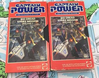 CAPTAIN POWER Mattel VHS - Bio Dread Strike Mission Skill Level 2 - Both