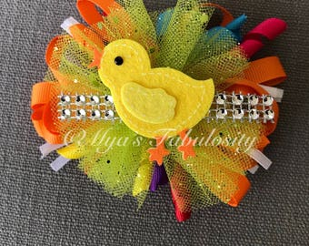 Chick Party Hair Bow
