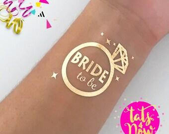 Set of 16 Diamond ring bride tribe bachelorette party favor, bachelorette tattoo, team bride, bridal party, bridesmaid tattoo, bride