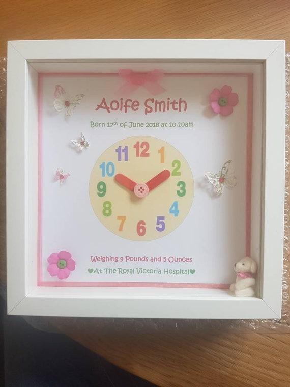 Personalised Clock Baby Frame