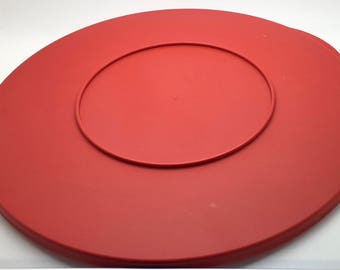 """Tupperware Spin N Serve Salad Spinner Impression Round Seal Red 3092 10 """" Replacement Lid Cover"""
