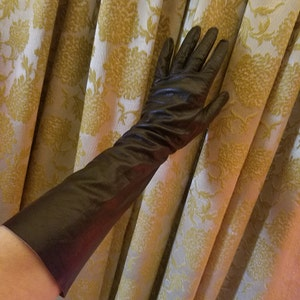 Vintage 1950's 1960's Black Kid Leather Gloves Size 6 1/2 Fetish