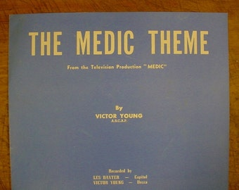 Sheet Music The Medic Theme TV Television Music Sheet Antique Vintage Original