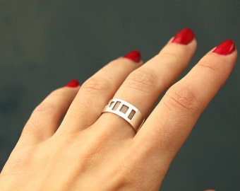 Old windows Ring-sterling silver