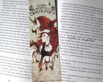 Bookmark red Unicorn