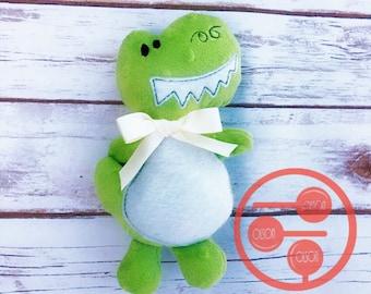 Stuffed dinosaur, handmade, Free USA shipping