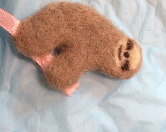 Beautiful hand felted sloth Bookmark SOOO cute!!