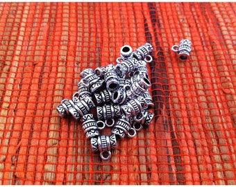 10 tube decor zig zag shaped bails and aged silver streaks