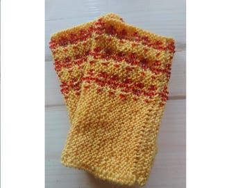 Hand warmers, fingerless gloves, wrist warmers, beaded wrist warmers