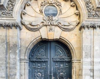 Paris Photography - Historic Marais Doorway, Travel Photograph, Paris Architectural Fine Art Print, French Home Decor, Large Wall Art