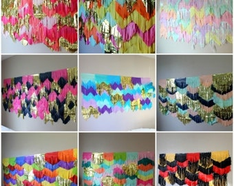 Custom Garland Backdrop Fringe