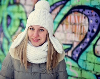 women's winter hat and scarf