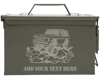 1966 Ford Bronco Custom Engraved 30/50 Cal Ammo Can Personalized Dad Gift Cool Guy Gifts Father's Day Gift Grandpa Gift Groomsmen Hunter