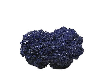 Azurite Indigo Blue Crystal Blossom, Collector's Mineral Specimen, Semiprecious Natural Gemstone, Wear it or Display it