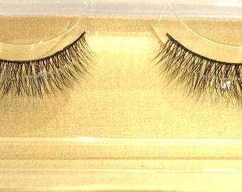 100% Siberian Mink Eye Lashes - Hand Made [#K15] - [x10]
