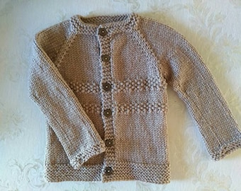 Knitted baby sweater 3-6 months