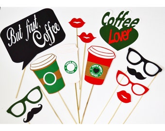 Coffee party props 13 pc** coffee props photobooth, cafe party
