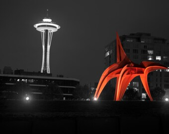Seattle Space Needle and the Eagle
