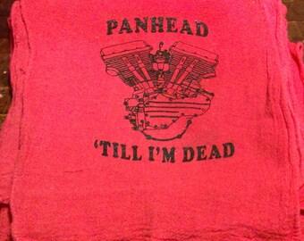 Harley Davidson Panhead shop rag