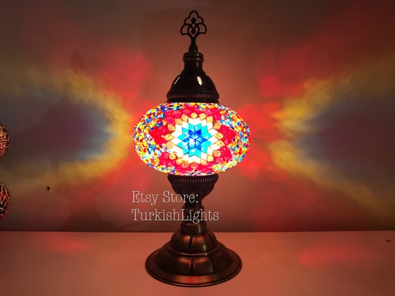 Turkish mosaic table lamp large globe aloadofball Images