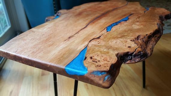 Live Edge Wood Coffee Table Custom Order Example Resin