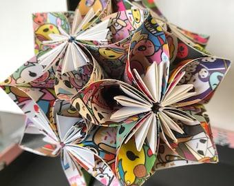 TOKIDOKI Origami Kusudama flower
