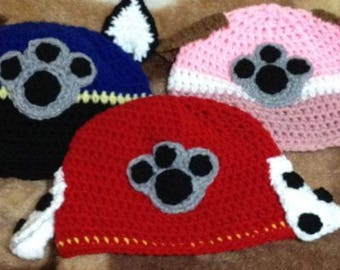 Marshall Paw Patrol Crochet Character Hats Dog Hat Made To