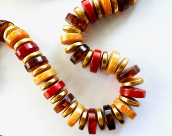 1980s Les Bernard Chunky Bold Lucite Necklace