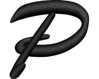 Letter P 3D Puff Embroidery Design