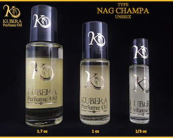 Type Nag Champa perfume in oil for both 1/3oz 1oz 1.7oz