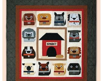 Dog Days - Dog Quilt Pattern – Machine Applique Quilt Pattern