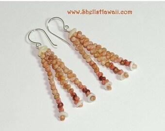 """1 1/2"""" Kahelelani shell earrings #209"""