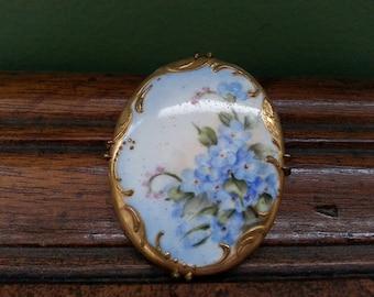Vintage Handpainted Porcelain Brooch