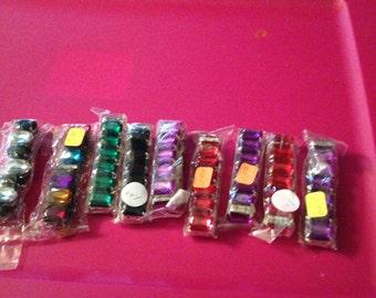 Faux colorful stone stretch bracelets