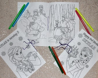Frozen Birthday Party Coloring Pages Activity Book PDF File