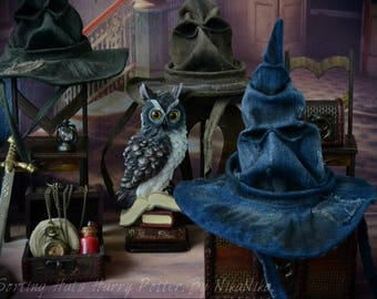 Sorting Hat Harry Potter, gift, for an interior , witch hat, gift hat, Halloween, wizard, owl, magic, sorting hat, to Harry Potter's fans