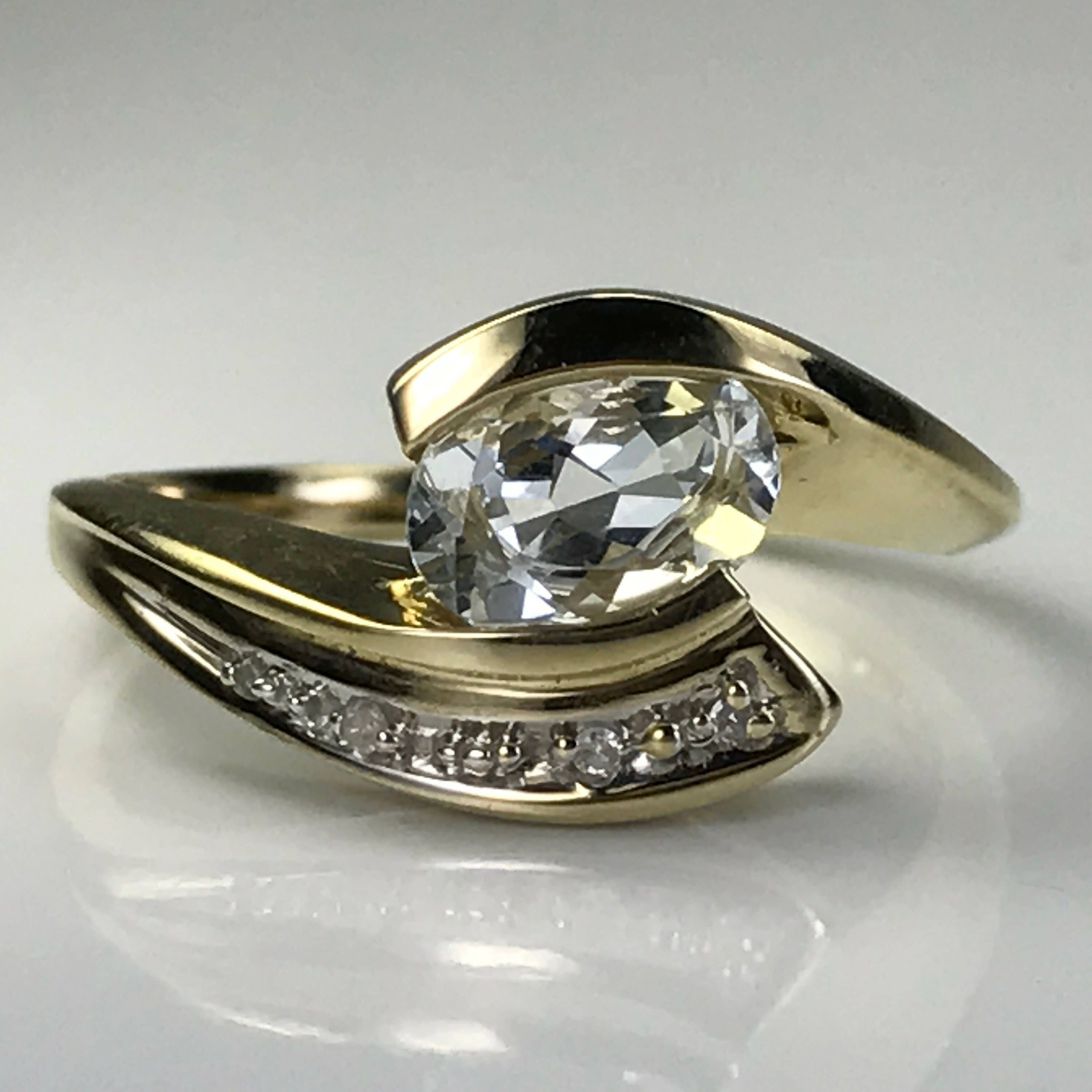 band diamond modernist pin rings platinum engagement ring
