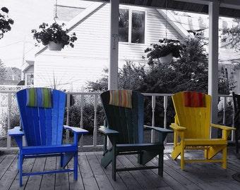 Splash of Color Fine Art Photo , Chairs, Fish Creek Wisconsin - Home Decor